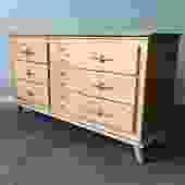 vintage mid century modern lowboy dresser by LA Period Furniture.