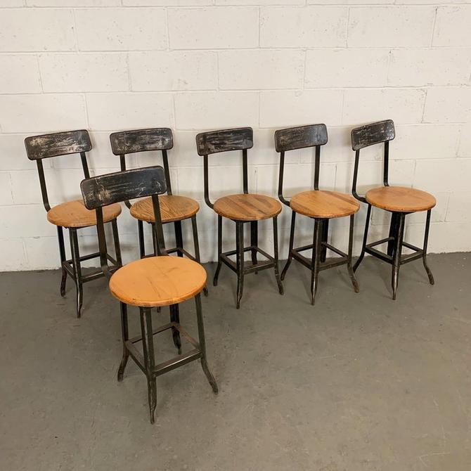 Industrial Oak Shop Chair Set