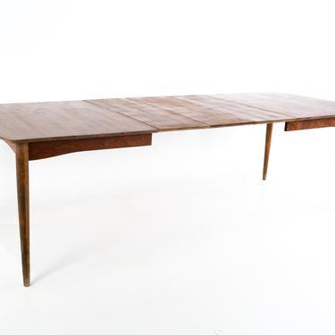 Kipp Stewart for Drexel Declaration Style Morganton Mid Century 10 Person Walnut Dining Table - mcm by ModernHill