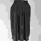 1980s or 1990s navy pindot midi skirt by flutterandecho