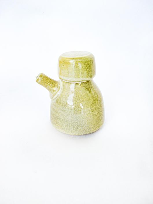 Mini Vintage Ceramic Liquid Holder with Lid by PortlandRevibe