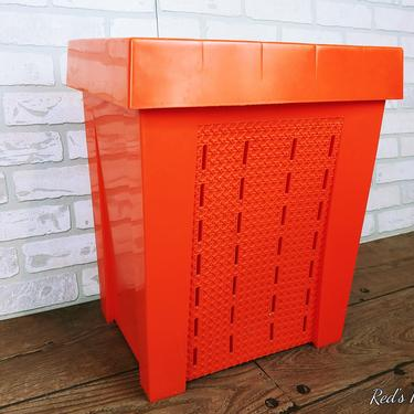 Vintage Orange Shamrock Neatway Clothes Hamper by RedsRustyRelics