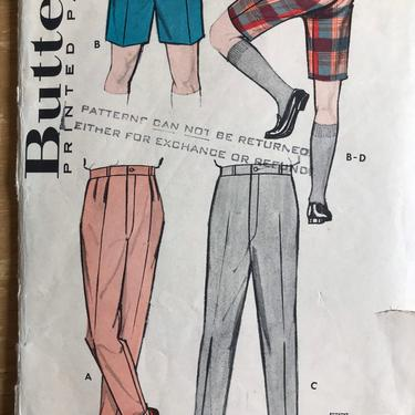 Vintage Butterick 8813 Mens Pants and Bermuda Shorts Pattern | 50s Menswear Sewing Pattern by blindcatvintage