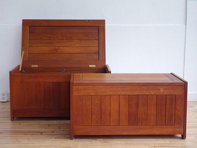 Pair of Danish Teak Blanket Chests
