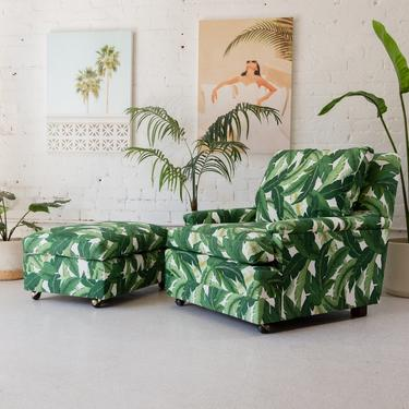 Palm Leaf 1960's Lounge Chair