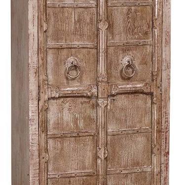 Charming Tall Distressed 2 Door Teak  Wood Cabinet from Terra Nova Designs Los Angeles by TerraNovaLA