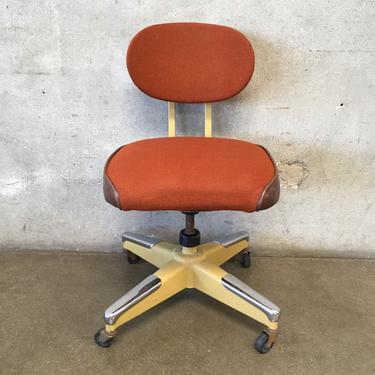 Orange Tanker Desk Chair Vintage