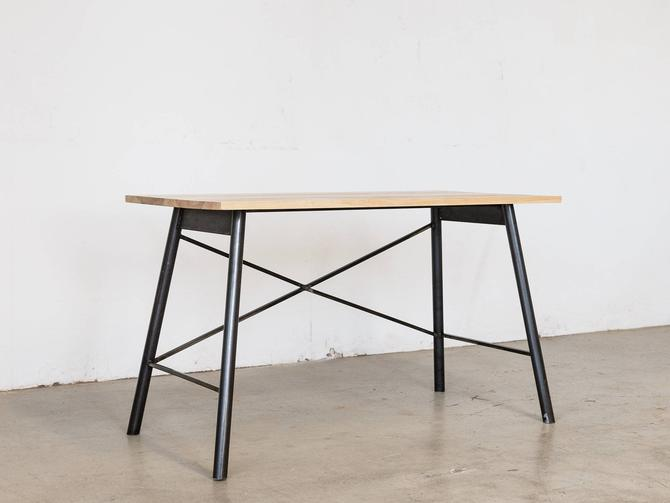 Intersecting Steel Desk - Ash + Natural Steel by HerbsFurniture