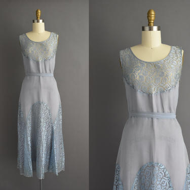 vintage 1930s | Antique icy blue bias cut bridesmaid lace cocktail party dress | Small | 30s dress by simplicityisbliss