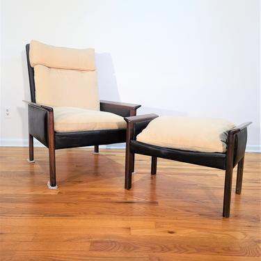 Mid Century Hans Olsen Chair and Ottoman by ProRefineFurnishings