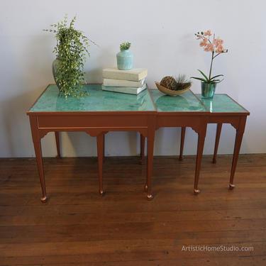 Unique Copper Nesting Tables