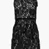 Milly - Black Floral Lace Sleeveless Sheath Dress Sz 0