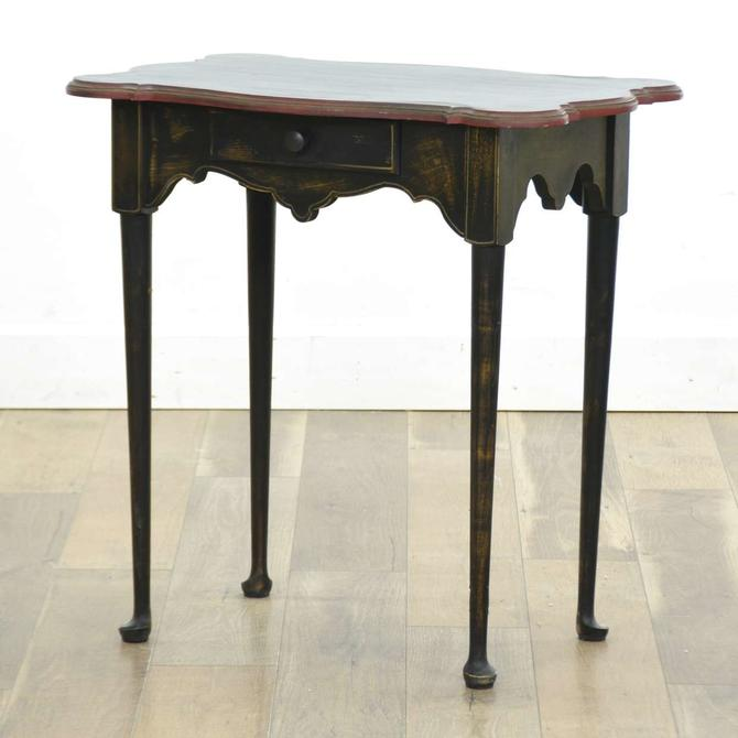 Queen Anne Style Console Table W Storage