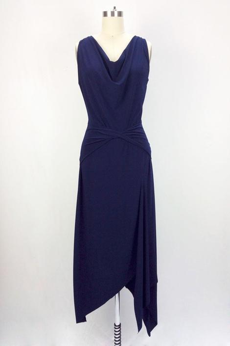 Garbo Dress (Navy)