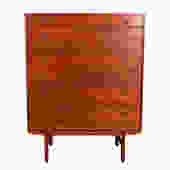 Dux Swedish Modern Teak 6-Drawer Tall Dresser