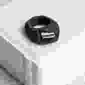 Black Ring with Tourmaline