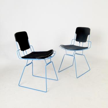 Pair of Nais Wire Frame Side Chairs