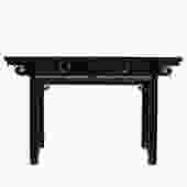 Chinese Oriental Brown Ru Yi Drawers Altar Foyer Side Console Table cs4982S