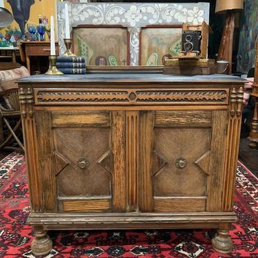 Primitive antique oak server