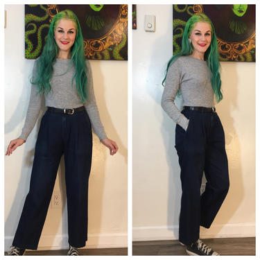 Vintage 1990's Dark Denim Mom Jeans by SurrealistVintage