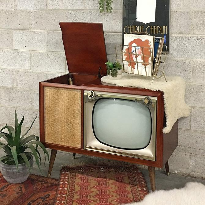 LOCAL PICKUP ONLY ———— Vintage Zenith Tv + Record Player by RetrospectVintage215