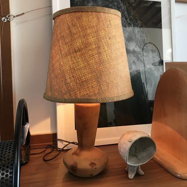 Vintage Hand-Turned Table Lamp