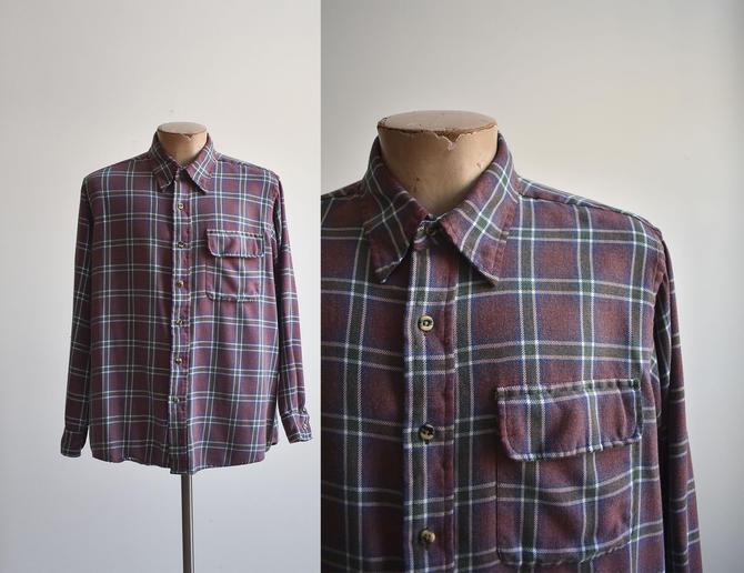 Vintage Sears Roebuck Flannel Shirt by milkandice