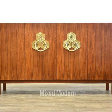 Bert England for Widdicomb Walnut Sidebord Credenza by mixedmodern1