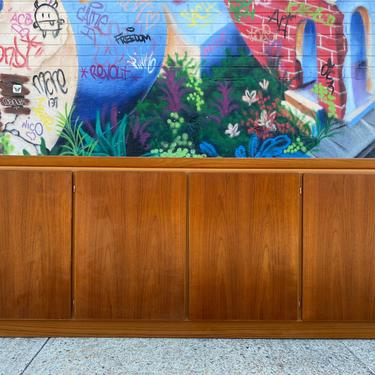 "Vintage Midcentury modern teak danish credenza dresser sideboard denmark 80"" long 4 door 5 drawer by symmetrymodern"