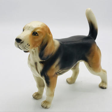"""Vintage Beagle Figurine-Satin  Matte Finish -Nice condition 7.5"""" Larger by JoAnntiques"""
