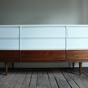 White + Wood Dixie 9-Drawer Lowboy - $995