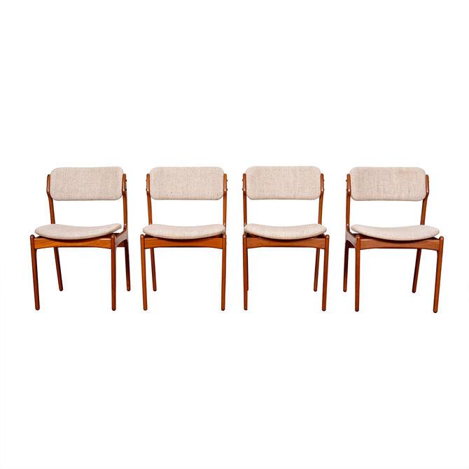 Set of 4 Erik Buch Danish Teak Dining Chairs