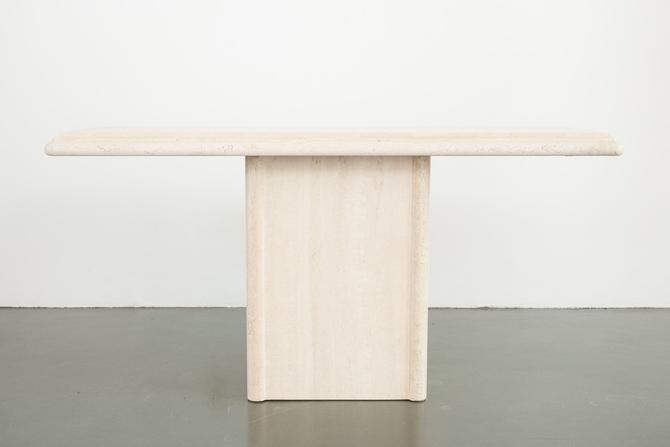 Travertine Stone Console Table by HomesteadSeattle
