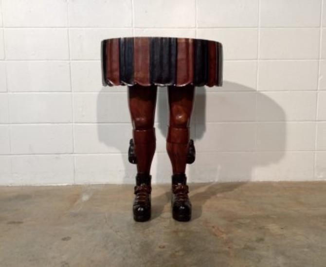 Scottish Kilt Occasional Table, Male