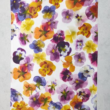 Edible Violet Tea Towel