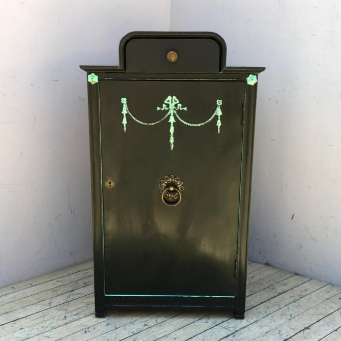 Painted Music Cabinet w/ Key