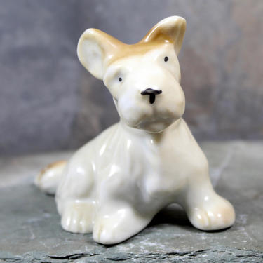 Sweet Terrier Puppy Figurine - Circa 1950s - Puppy Love - Made in Japan - Vintage Jack Russel Terrier Figurine | FREE SHIPPING by Trovetorium