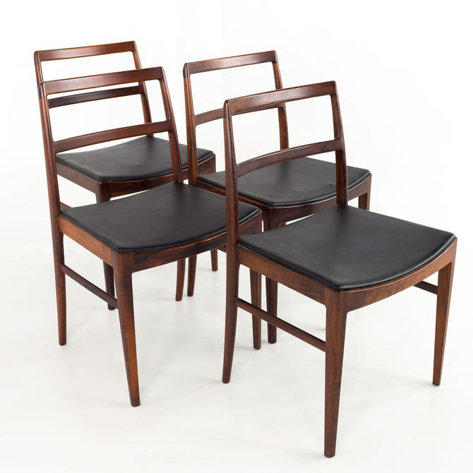 Arne Vodder for Sibast #430 Rosewood and Leather Mid Century Dining Chairs - Set of 4 - mcm by ModernHill