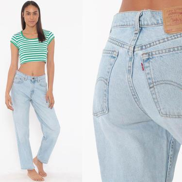 Levis Mom Jeans 27 -- High Waist Jeans 80s Jeans Blue Jeans Levi High Waist Denim Pants 560 Straight Leg 1980s Vintage Small 27 x 29 by ShopExile