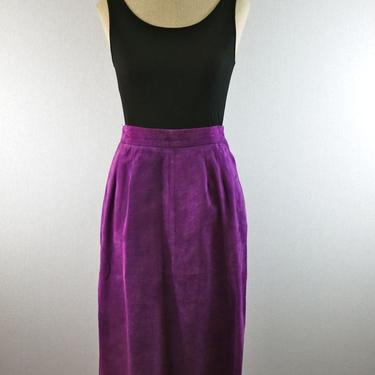 Purple Suede High Waisted Leather Pencil Skirt by citybone