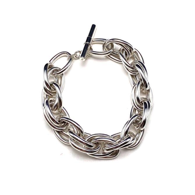 Double Linked Sterling Silver Bracelet