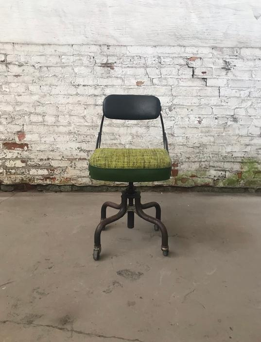 Vintage Industrial Bond-Tex Domore Chair Co Rolling Office Chair by NorthGroveAntiques