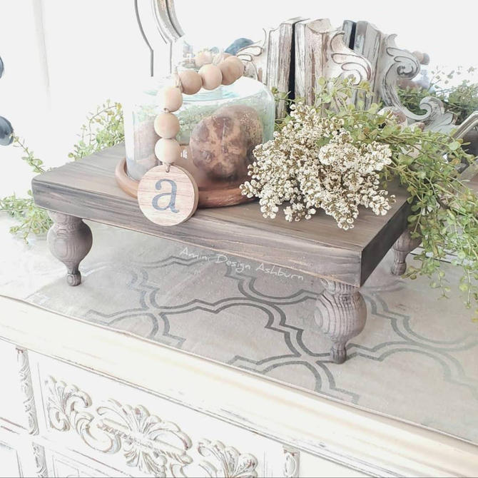 Farmhouse Table Riser Tray by AminiDesignAshburn