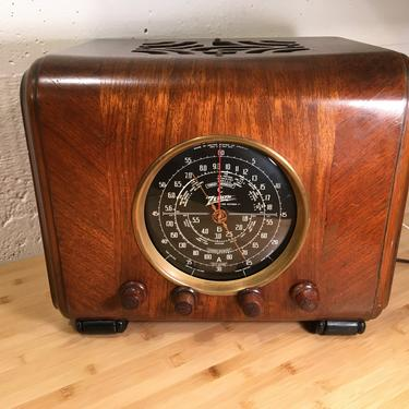 1937 Zenith AM/Shortwave Cube Radio 6S222, Elec Restored by Deco2Go