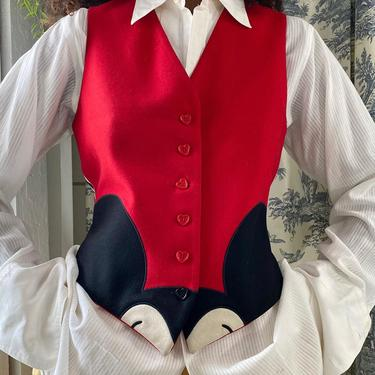 90s Moschino Mickey Mouse Vest