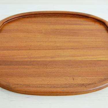 Danish Modern Digsmed Large Solid Teak Serving Tray with Handles Made in Denmark by MidCentury55