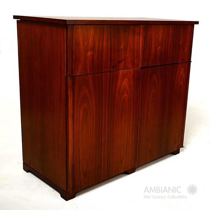 Mid-Century Modern Walnut Cabinet Desk by AMBIANIC