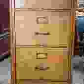 Item #BMC2 American Oak Filing Cabinet