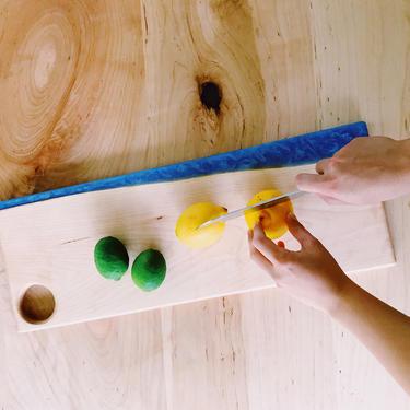 Maple ocean blue resin board by KaashiFurniture