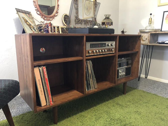 Mid Century Record Player Console by OrWaDesigns